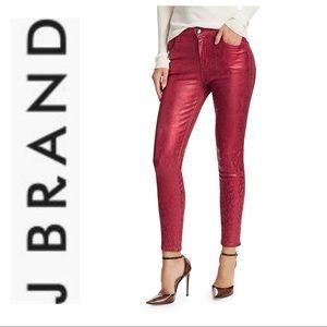 J BRAND Alana High-Rise Python Crop Skinny Jeans